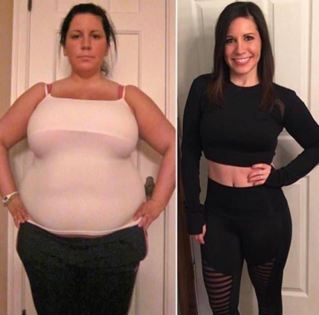 Девушка фото похудели