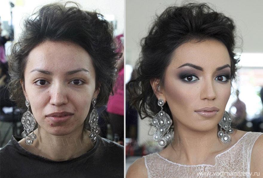 Невероятная трансформация: «До и После» макияжа