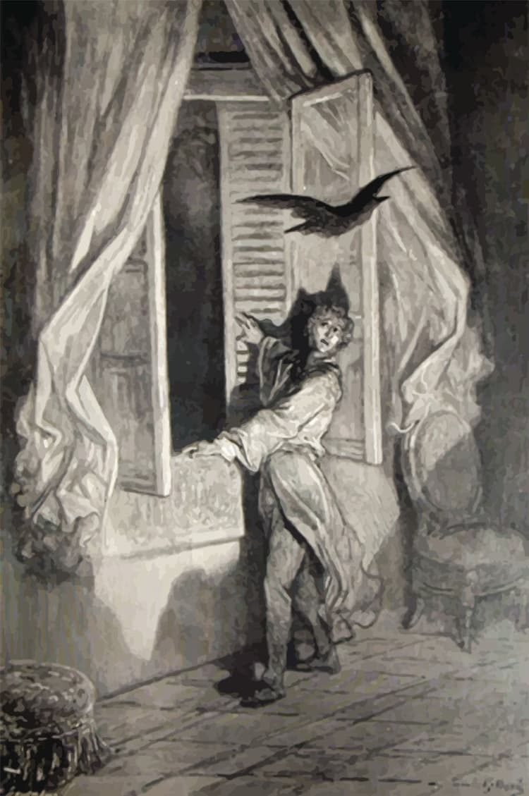 Эдгар Аллан По, стихотворение «Ворон»