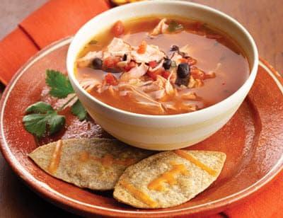 Суп с курицей по-мексикански