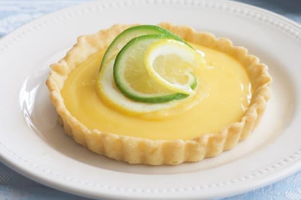 Тарт с лимонным курдом