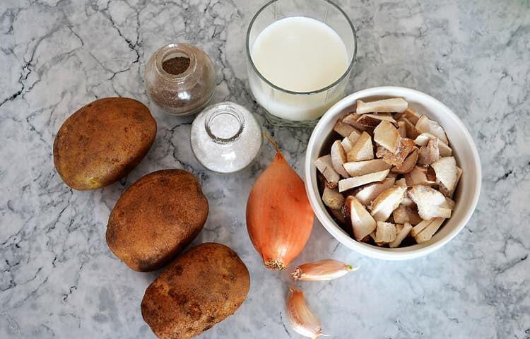 Сливочный суп с белыми грибами