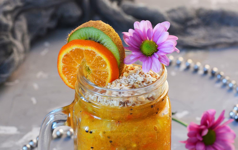 Рецепт: Фруктовый завтрак с овсянкой и грецкими орехами