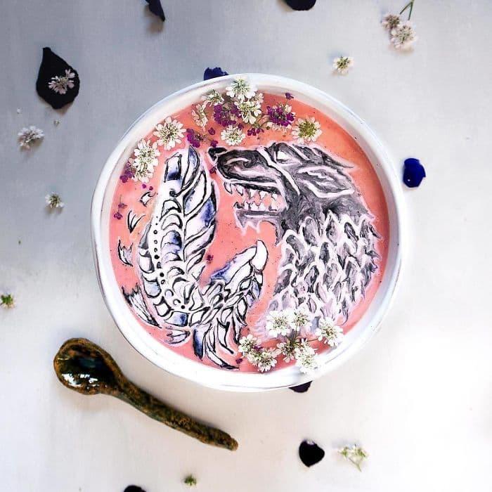 Фуд-арт: Уникальные рисунки на смузи Хейзел Закарии