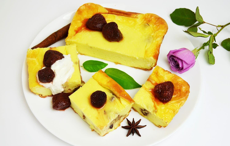 Рецепт: Творожная запеканка с грецкими орехами