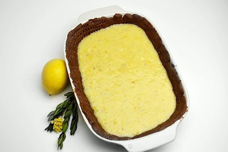 Песочный пирог с бананами и лимоном